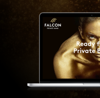 Falcon Private Bank - UX oriented modern design & web development
